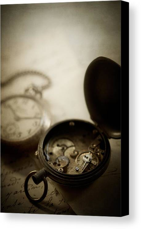 Watch Canvas Print featuring the photograph Somewhere In Time by Amy Weiss