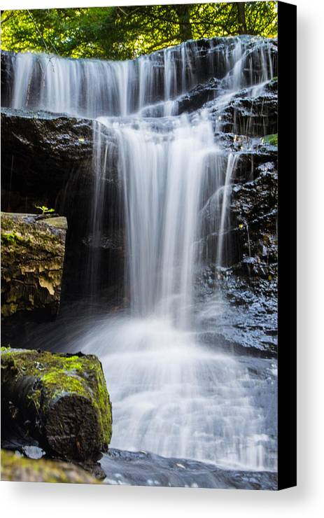Springfield Falls Canvas Print featuring the photograph Springfield Falls by Anthony Thomas