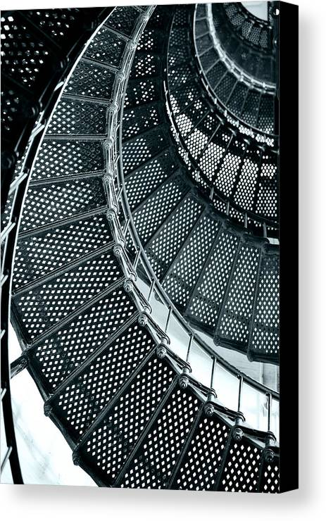 Saint Canvas Print featuring the photograph St Augustine Lighthouse Staircase by Christine Till
