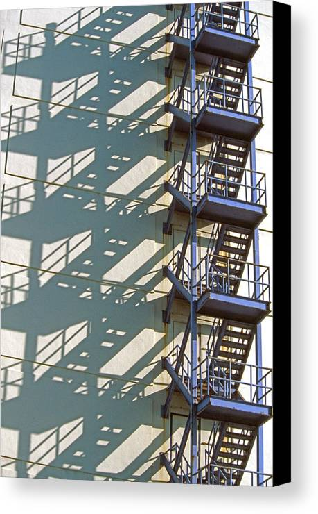 Pattern Canvas Print featuring the photograph Stack Of Stairs by Gary Hromada