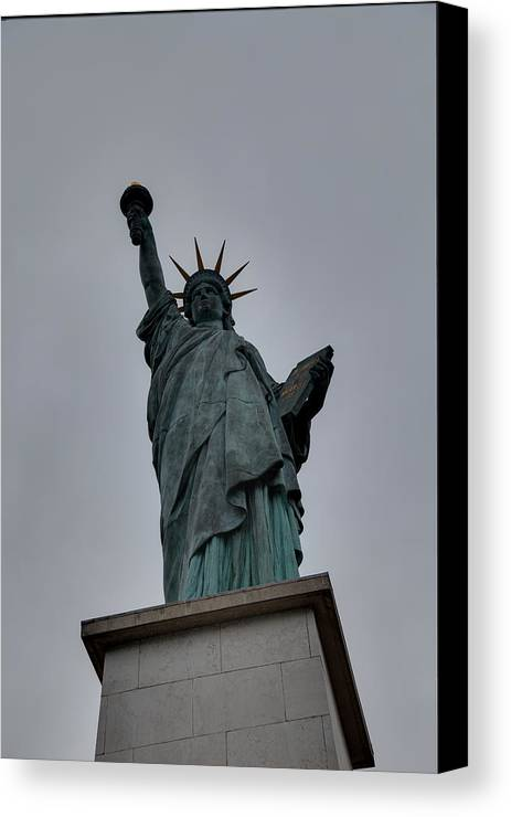 Aod Canvas Print featuring the photograph Statue Of Liberty - Paris France - 01131 by DC Photographer