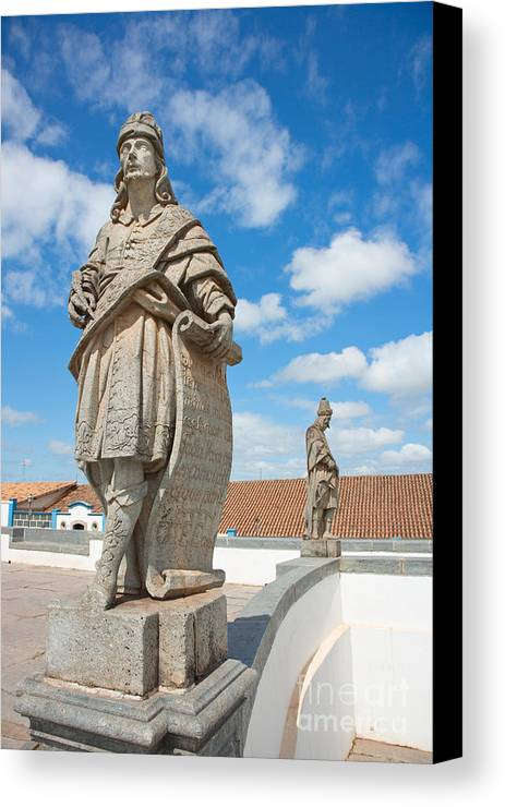 World Destination Canvas Print featuring the photograph Statues Of Prophets by David Davis