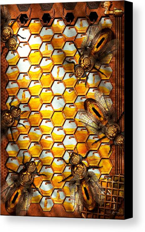 Self Canvas Print featuring the photograph Steampunk - Apiary - The Hive by Mike Savad