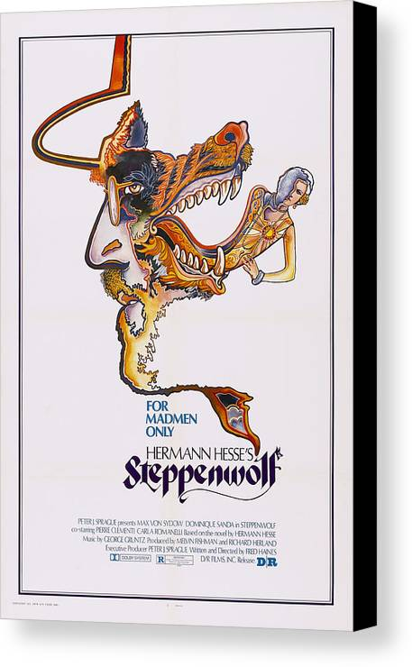 1970s Poster Art Canvas Print featuring the photograph Steppenwolf, Poster Art, 1974 by Everett
