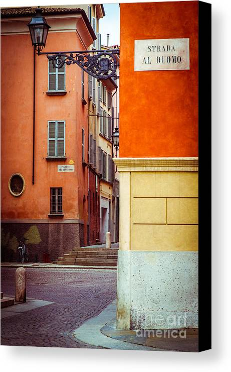 Italian Canvas Print featuring the photograph Strada Al Duomo Duomo Street by Silvia Ganora