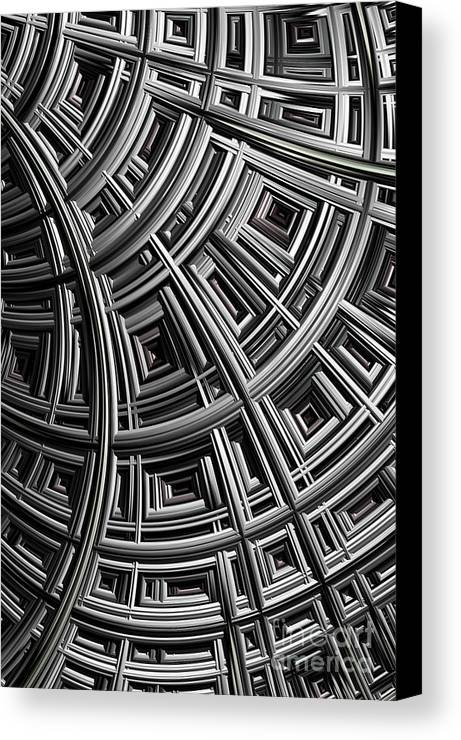 Mesh Canvas Print featuring the digital art Structure by John Edwards