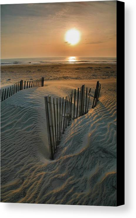 Outer Banks Prints Canvas Print featuring the photograph Sunrise Over Hatteras by Steven Ainsworth