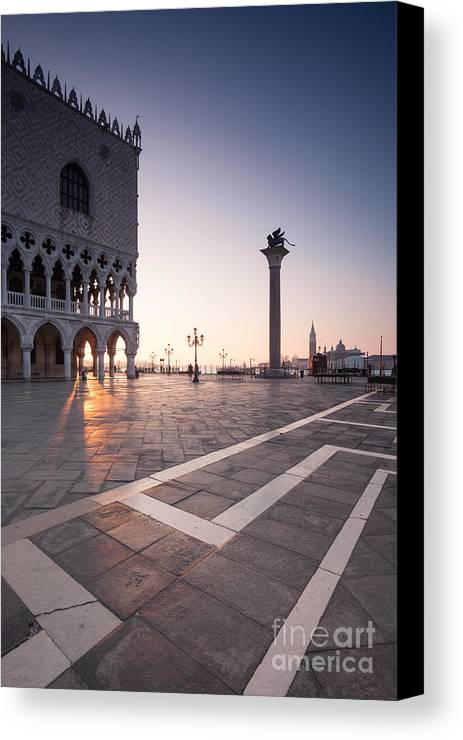 Venice Canvas Print featuring the photograph Sunrise Over Venice by Matteo Colombo