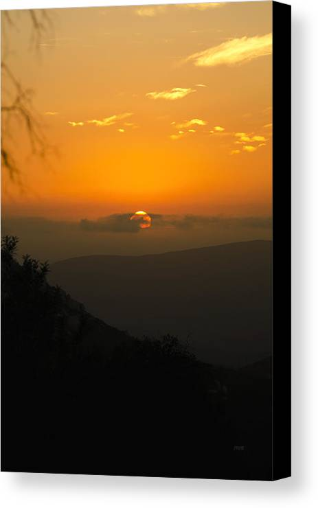 Sunset Canvas Print featuring the photograph Sunset Jamul by James Blackwell JR