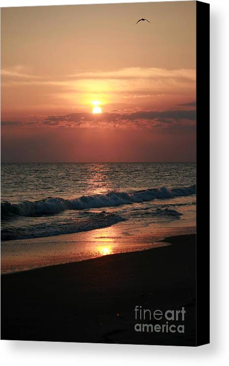 Sunset Canvas Print featuring the photograph Sunset Reflection by Bren Thompson