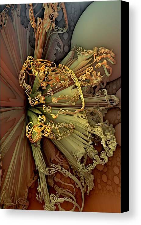 Abstract Canvas Print featuring the digital art Supernova by Yitzhak Weissman