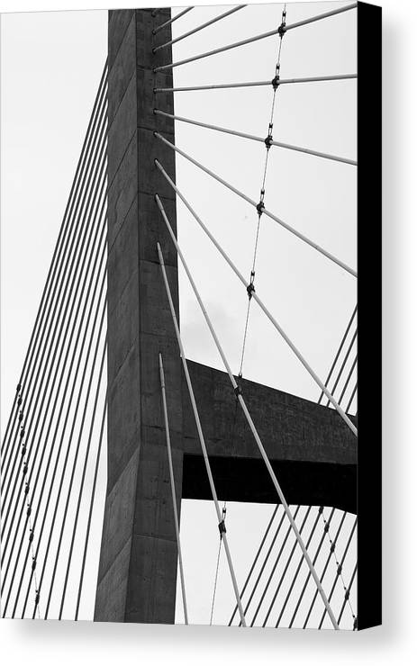 Bridge Canvas Print featuring the photograph Supporting Role by Jane Eleanor Nicholas