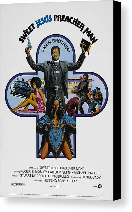 1970s Poster Art Canvas Print featuring the photograph Sweet Jesus, Preacher Man, Aka Sweet by Everett