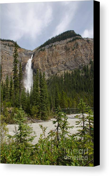 Daly Glacier Canvas Print featuring the photograph Takakkaw Falls by Ralf Broskvar