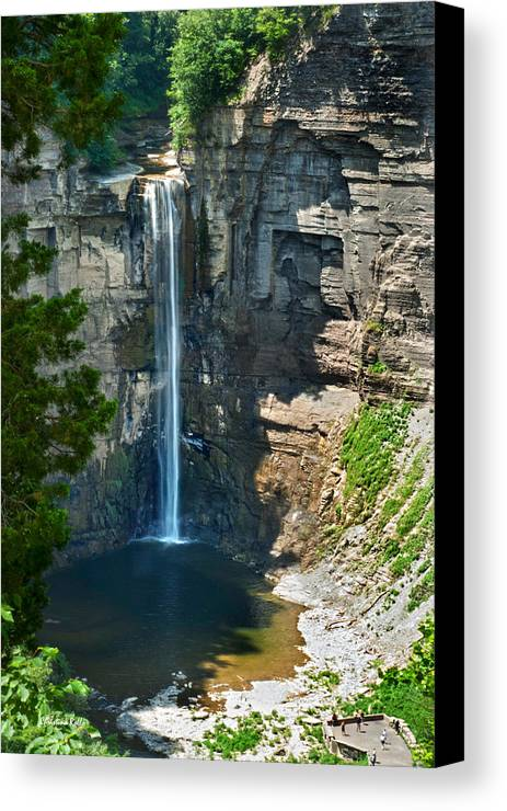 New York Canvas Print featuring the photograph Taughannock Falls by Christina Rollo