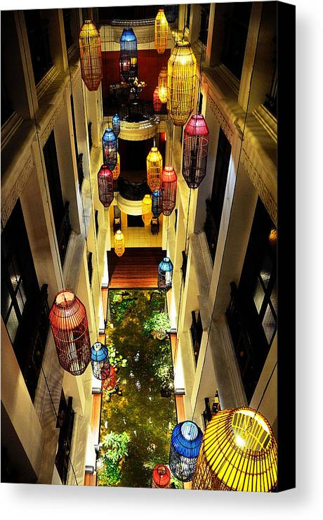 Hotel Canvas Print featuring the photograph Thai Hotel by Money Sharma