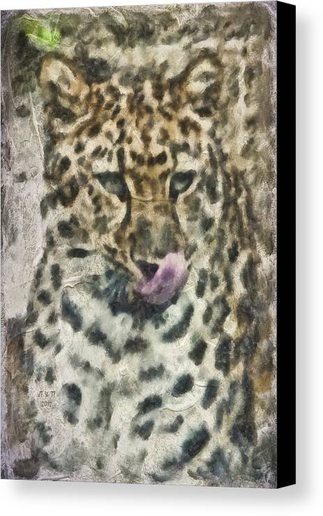 Cat Canvas Print featuring the photograph That Was Delicious by Trish Tritz