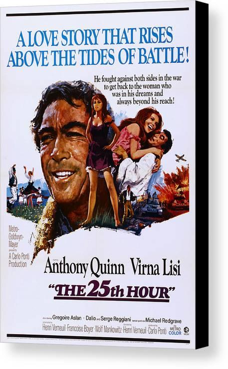 1960s Movies Canvas Print featuring the photograph The 25th Hour, Aka La Vingt-cinquieme by Everett