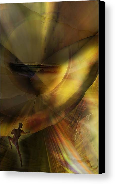 Balloon Canvas Print featuring the digital art The Balloon Master by Holger Debek