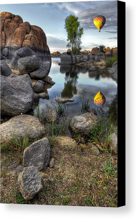 Landscape Canvas Print featuring the photograph The Bobber by Sean Foster