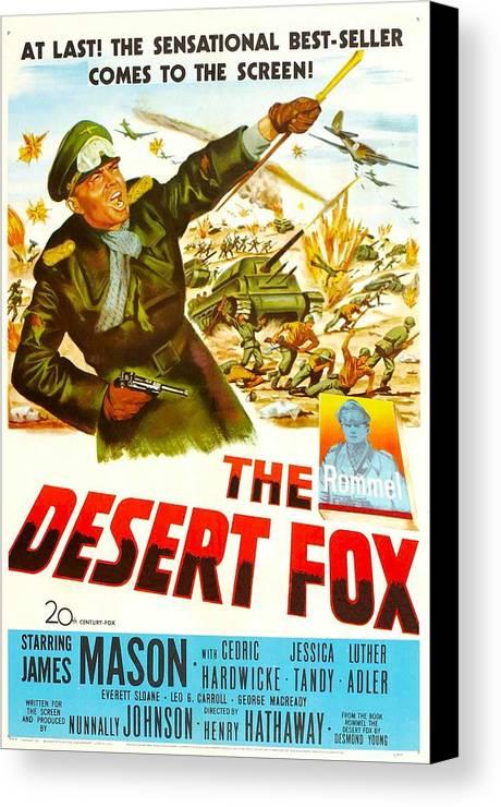 1950s Portraits Canvas Print featuring the photograph The Desert Fox, Aka The Desert Fox The by Everett