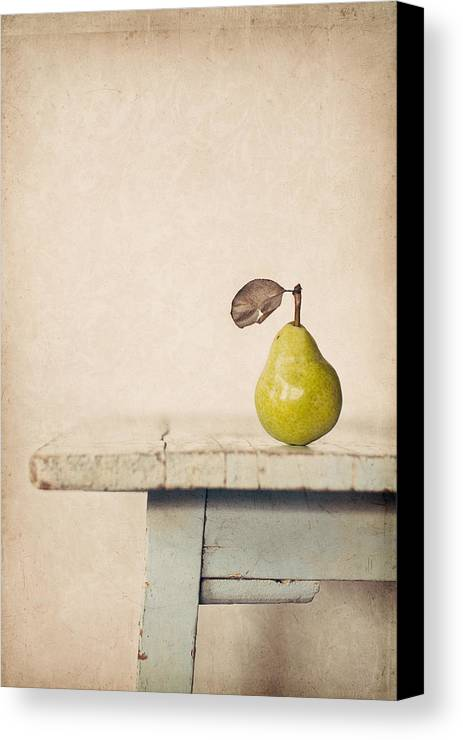 Pear Canvas Print featuring the photograph The Exhibitionist by Amy Weiss