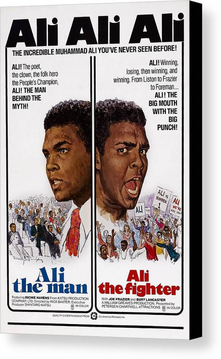 1970s Poster Art Canvas Print featuring the photograph The Fighters, Aka Ali The Fighter, Aka by Everett