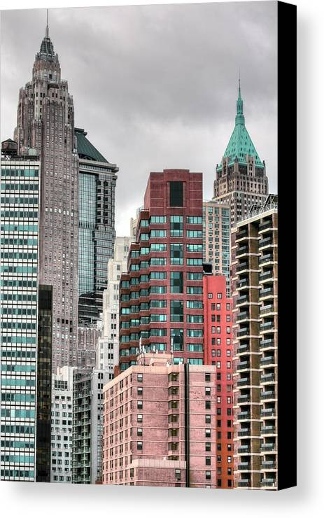New York City Canvas Print featuring the photograph The Financial District by JC Findley