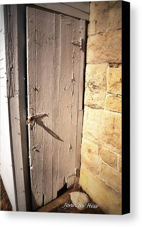 Vintage Barn Door Canvas Print featuring the photograph The Old Creaky Door by Jennifer Broadstreet Hess & The Old Creaky Door Canvas Print / Canvas Art by Jennifer ...