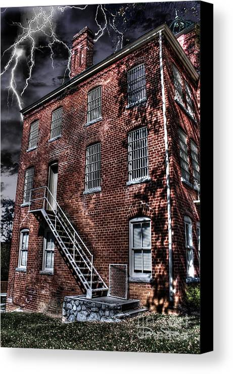 Abandoned Canvas Print featuring the photograph The Old Jail by Dan Stone