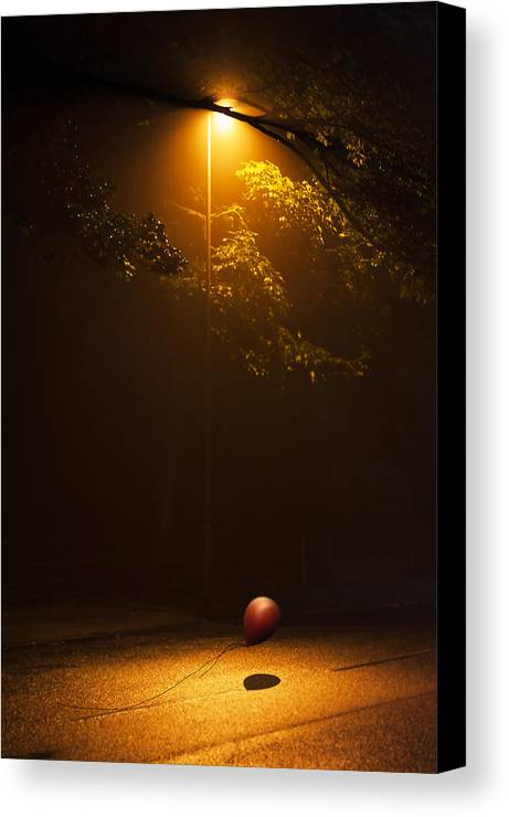 Ball Canvas Print featuring the photograph The Red Balloon by Svetlana Sewell