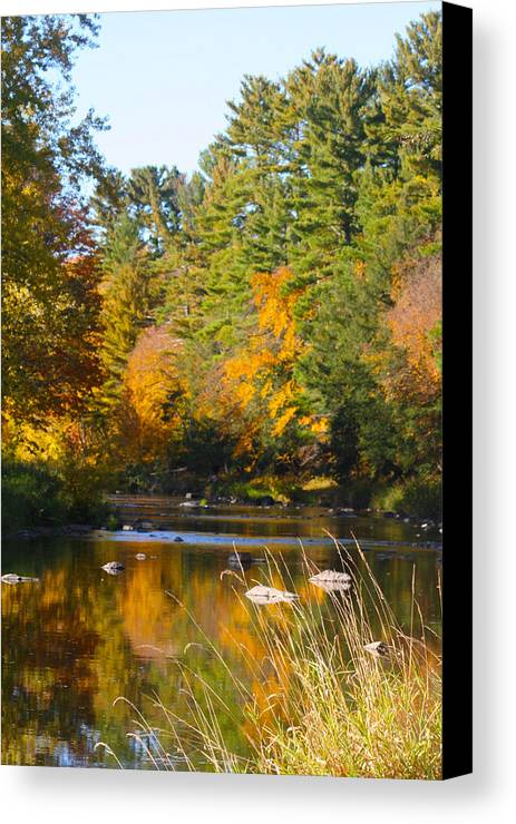 Amco Park Canvas Print featuring the photograph The River Flows by Tiffany Erdman