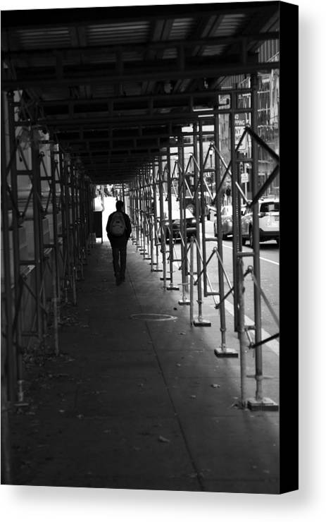 11.11.13_a 001 Canvas Print featuring the photograph The Time Tunel by Dorin Adrian Berbier
