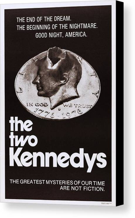 1960s Movies Canvas Print featuring the photograph The Two Kennedys, Aka I Due Kennedy by Everett