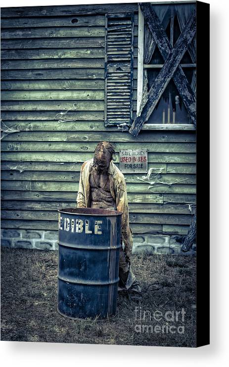Zombie Canvas Print featuring the photograph The Walking Dead by Edward Fielding