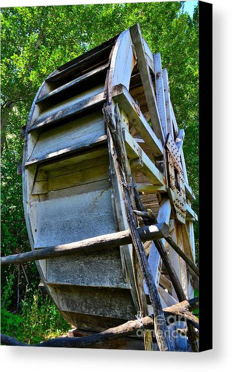 Phil Dionne Photography Canvas Print featuring the photograph The Water Wheel by Phil Dionne