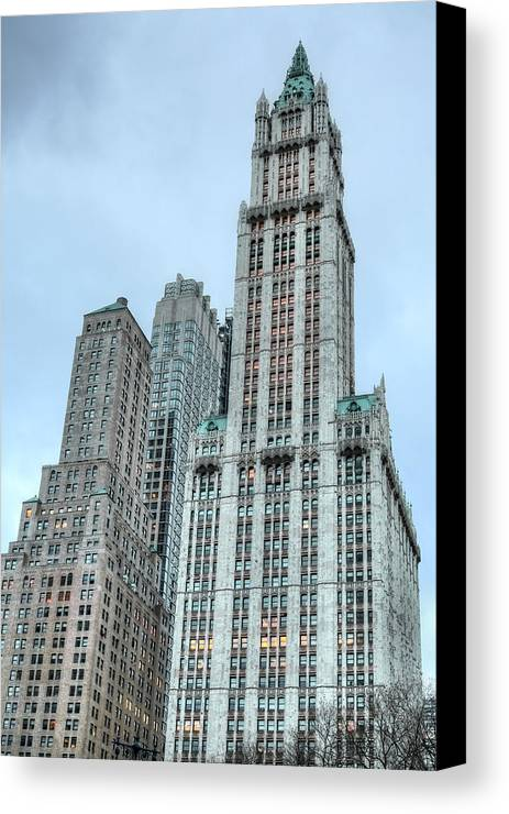 The Woolworth Canvas Print featuring the photograph The Woolworth by JC Findley