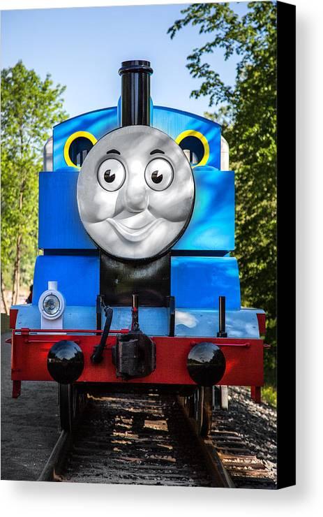 Thomas The Train Canvas Print featuring the photograph Thomas The Train by Dale Kincaid