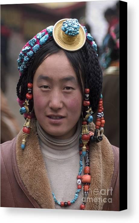 To Travel Canvas Print featuring the photograph Tibetan Beauty - Kham by Craig Lovell