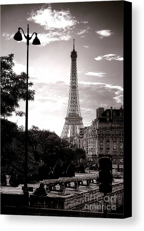 France Canvas Print featuring the photograph Timeless Eiffel Tower by Olivier Le Queinec
