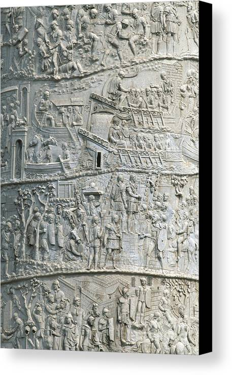Art Canvas Print featuring the photograph Trajan's Column by Chris Selby