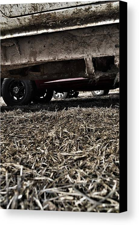 Mud Canvas Print featuring the photograph Trucks by Branden Simons