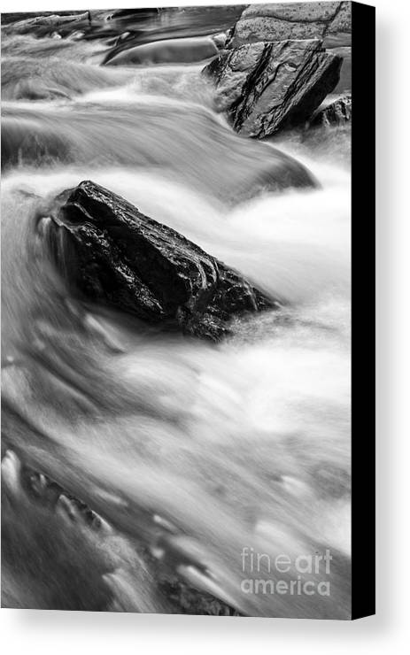 Meridith Canvas Print featuring the photograph True's Brook Gorge Water Fall by Edward Fielding