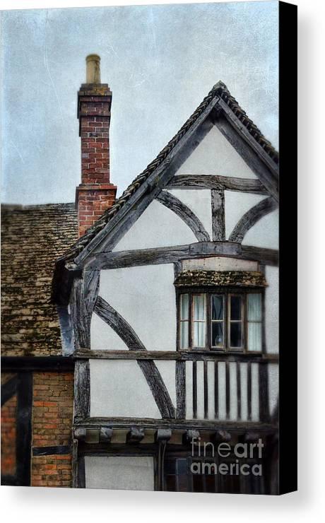 House Canvas Print featuring the photograph Tudor House by Jill Battaglia