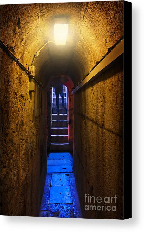 Above Canvas Print featuring the photograph Tunnel Exit by Carlos Caetano
