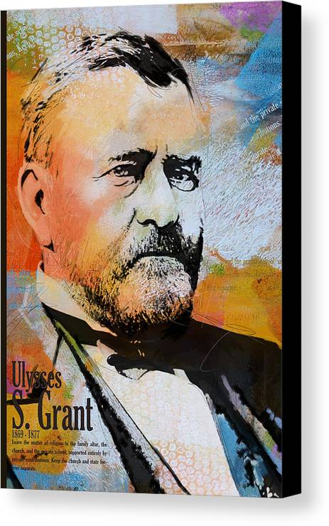 Ulysses S. Grant Canvas Print featuring the painting Ulysses S. Grant by Corporate Art Task Force