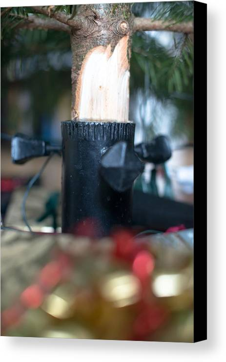 Christmas Canvas Print featuring the photograph Under The Christmas Tree by Frank Gaertner