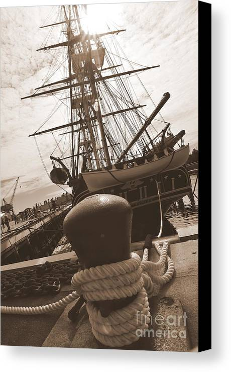 Boston Ma Canvas Print featuring the photograph Uss Constitution by Catherine Reusch Daley