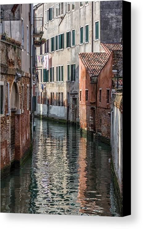 Italy Canvas Print featuring the photograph Venetian Building by Francesco Rizzato