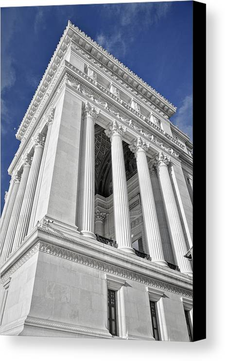 Architecture Canvas Print featuring the photograph Victor Emmanuel Monument by Joan Carroll